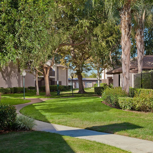 Sycamore Park Apartments - Community Walkway