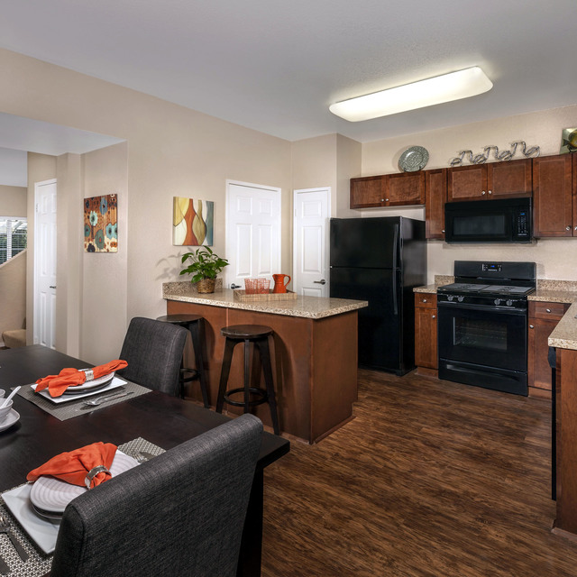 Homecoming at Eastvale Apartments - Kitchen and dining room