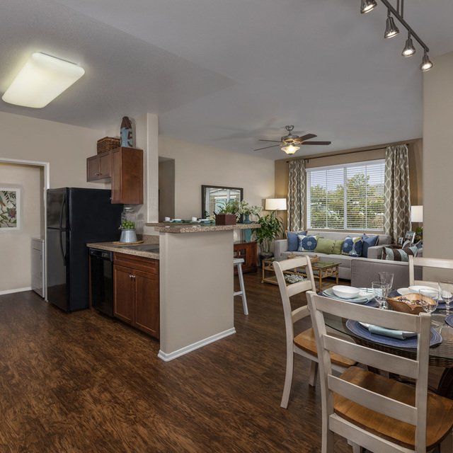 Homecoming at Terra Vista Apartments - Kitchen and dining table