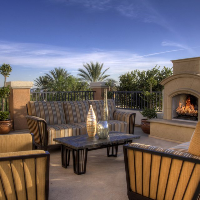 Homecoming at Terra Vista Apartments - Outdoor fireplace