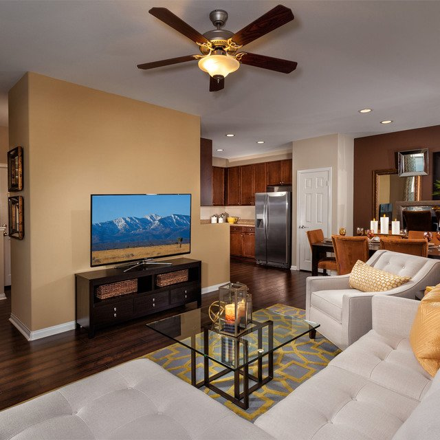 The Enclave at Homecoming Terra Vista - Model Living Room