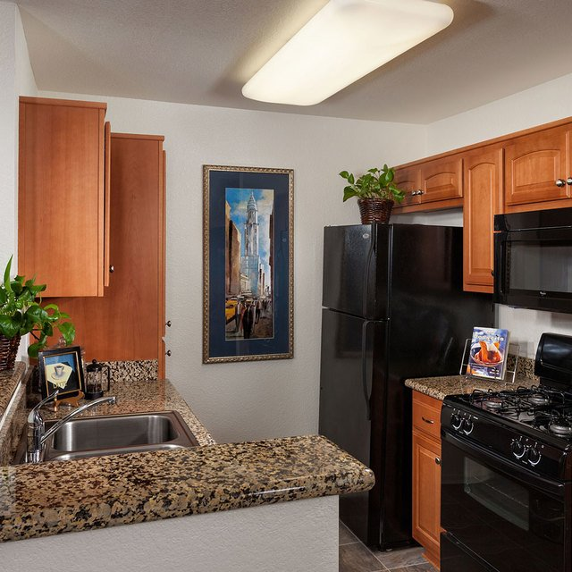 Evergreen Park Apartments - Kitchen and sink