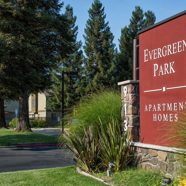Evergreen Park Apartments - Entrance sign