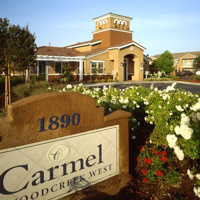 Carmel at Woodcreek West Apartments - Welcome sign