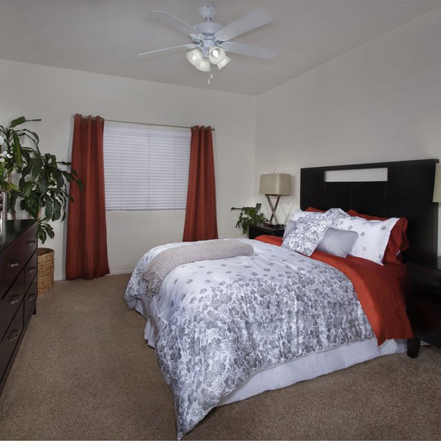 Carmel at Terra VIsta | Bedroom with white bed