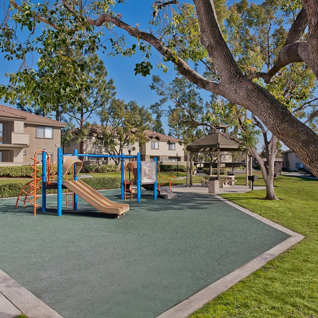 Evergreen Apartments - Playground and grass