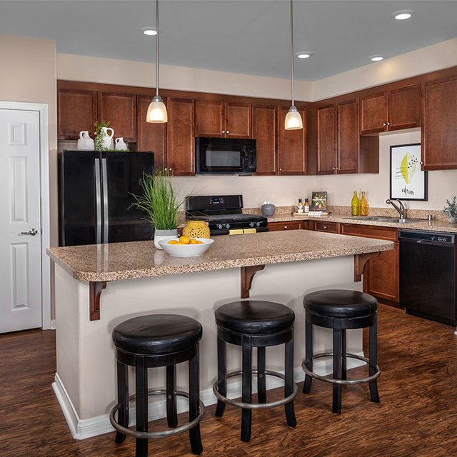 Homecoming at the Preserve Apartments - Kitchen and bar