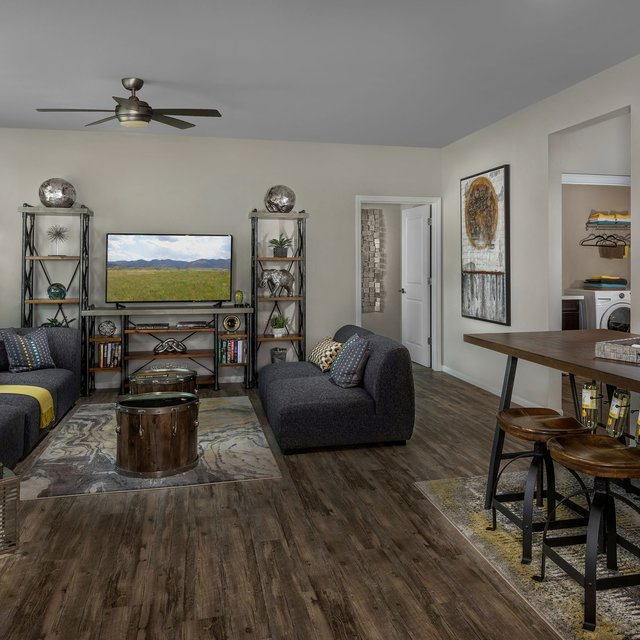 Harvest at Damonte Ranch Apartments - Living room with hardwood flooring