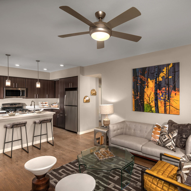 Latitude 39 Apartments - Living Area & Kitchen