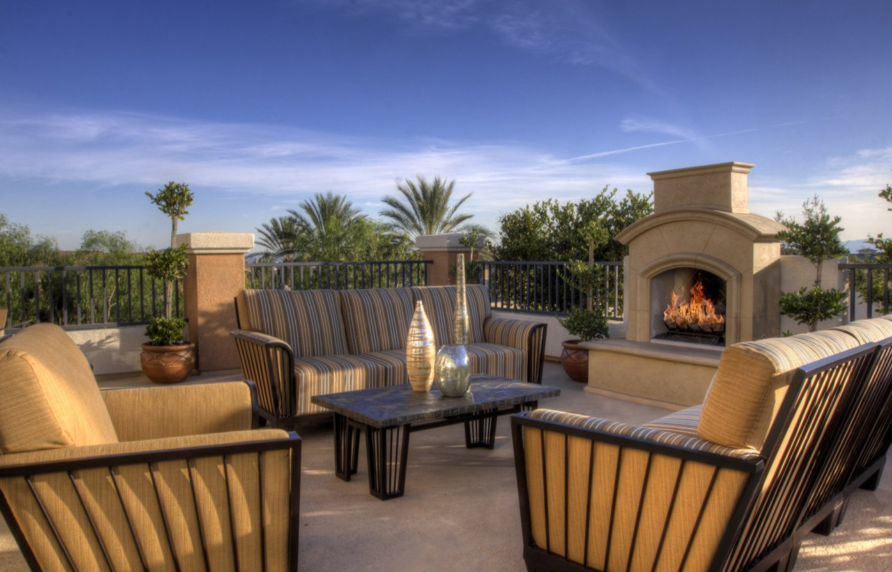 Homecoming At Terra Vista Apartments Outdoor Fireplace