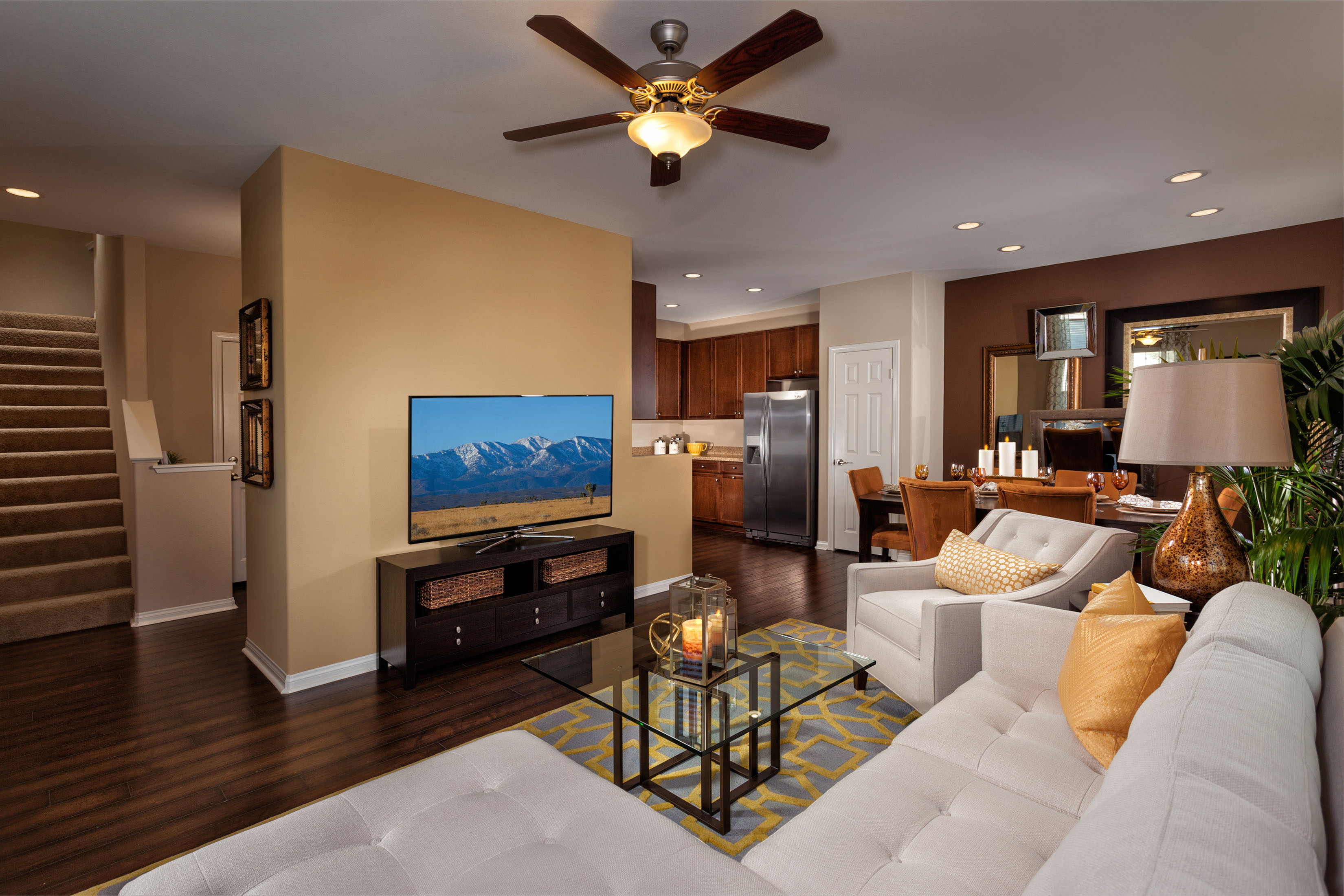 ... The Enclave At Homecoming Terra Vista   Model Living Room